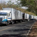 Nicaraguan truckers block border crossing with Costa Rica in protest